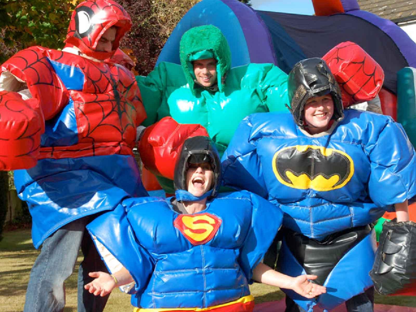 jeux gonflable super heros